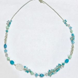 Blue and silver boutique necklace